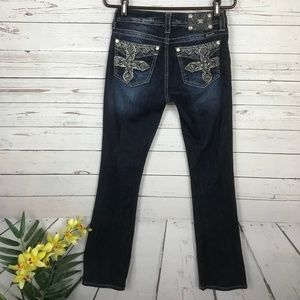 Miss Me Mid-Rise Curvy Boot Embellished Jeans - U2